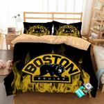 Nhl Boston Bruins 3 Logo 3d Duvet Cover Bedding Sets V