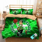 Nba Boston Celtics 2 Logo 3d Duvet Cover Bedding Sets N