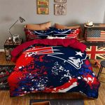 New England Patriots Bedding Set Sleepy Halloween  ? And Christmas Sale (Duvet Cover & Pillow Cases)