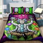 Rick And Morty  Bedding Set Sleepy Halloween And  ? Christmas Sale (Duvet Cover & Pillow Cases)