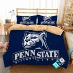 Ncaa Penn State Nittany Lions Logo With Iconic Colors Bedding Set (Duvet Cover & Pillow Cases)