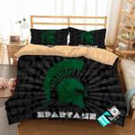 Ncaa Michigan State Spartans 3 Logo N 3d Duvet Cover Bedding Sets