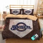 Mlb Milwaukee Brewers 3 Logo 3d Duvet Cover Bedding Sets