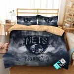 Nba Brooklyn Nets 1 Logo 3d Personalized Duvet Cover Bedding Sets V