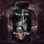 You And Me Skull Print 3d Full Over Print Hoodie