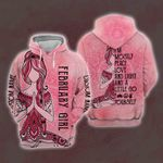 Yoga February Girl Personalized Hoodie All Over Print