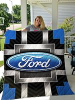 Ford Auto Logo Quilt Blanket