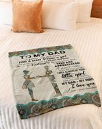 To My Dad Fleece Blanket