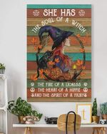 She Has The Soul Of A Witch Gothic Magic Witch Vintage Wall Decor No Frame Poster - Halloween, Christmas, Birthday Gift Idea