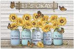 It's Okay To Make Mistakes To Have Bad Days Funny Sunflower Butterfly Horizontal Poster No Frame Full Size