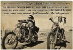 Biker While On This Ride Called Life Funny Motorcycle Racing Racer Horizontal Poster No Frame Full Size