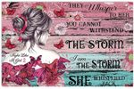 They Whispered To Her Breast Cancer Hippie Yoga Butterfly Daisy Pink Ribbon Horizontal Poster No Frame Full Size
