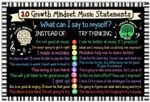 10 Growth Mindset Music Statements Music Inspiration Wall Art Musician Gifts Music Classroom Decor No Frame Poster