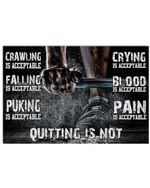"""Deadlift Quitting Is Not Horizontal Poster - Vintage Retro Art Picture Home Wall Decor No Frame Full Size 18""""x12"""" 24""""x16"""" 36""""x24"""""""