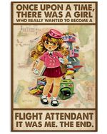 Once Upon A Time, There Was A Girl Vertical Poster - Print Perfect, Ideas On Xmas, Birthday, Home Decor, No Frame Full Size