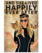 She Lived Happily Ever After Vertical Poster - Print Perfect, Ideas On Xmas, Birthday, Home Decor, No Frame Full Size