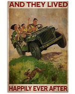 Jeep Family And They Lived Happily Vertical Poster - Print Perfect, Ideas On Xmas, Birthday, Home Decor, No Frame Full Size