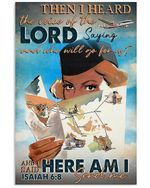 Flight Attendant I Heard The Voice Of The Lord Saying Poster Vintage Retro Art Picture Home Wall Decor Horizontal No Frame Full Size