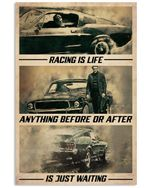 SM Car Racing Is Life Vertical Poster - Print Perfect, Ideas On Xmas, Birthday, Home Decor, No Frame Full Size