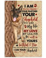 Dog I Am Your Friend Vertical Poster - Print Perfect, Gifts For Dog Lovers, Ideas On Xmas, Birthday, Home Decor, No Frame Full Size