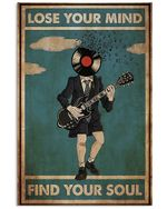 Music Lover Guitar Lose Your Mind Find Your Soul Poster Vintage Retro Art Picture Home Wall Decor Horizontal No Frame Full Size