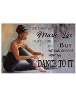 Black Girl We Can Choose How We Dance Horizontal Poster - Vintage Retro Art Picture Home Wall Decor No Frame Full Size