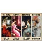 Pianist Be Strong When You Are Weak Horizontal Poster - Vintage Retro Art Picture Home Wall Decor No Frame Full Size
