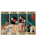 Girls Be Brave When YouRe Scared Horizontal Poster - Vintage Retro Art Picture Home Wall Decor No Frame Full Size