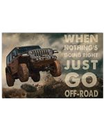 Go Off-Road Horizontal Poster - Vintage Retro Art Picture Home Wall Decor No Frame Full Size