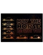 MT Evolution May The Horse Be With You Horizontal Poster - Vintage Retro Art Picture Home Wall Decor No Frame Full Size