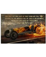 Indianapolis Car What A Ride Horizontal Poster - Vintage Retro Art Picture Home Wall Decor No Frame Full Size