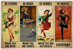 Be Strong When You are Weak Poster, Funny Irish Dancing Dancer Horizontal Poster No Frame Full Size