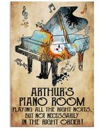 Galaxy Piano Arthurs Piano Room Vertical Poster - Print Perfect, Ideas On Xmas, Birthday, Home Decor, No Frame Full Size