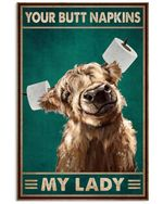 Sheep Smilling Your Butt Napkins My Lady Poster Print Perfect, Ideas On Xmas, Birthday, Home Decor,No Frame Full Size