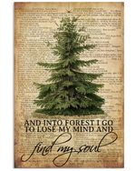 Travelling And Into Forest I Go To Lose My Mind And Find My Soul Poster Vintage Retro Art Picture Home Wall Decor Horizontal No Frame Full Size