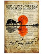 Mountain Travelling Find My Soul Poster Print Perfect, Ideas On Xmas, Birthday, Home Decor,No Frame Full Size