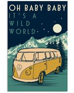 Travelling Baby It's Wild World Poster Vintage Retro Art Picture Home Wall Decor Horizontal No Frame Full Size