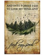 Into Forest I Find My Soul Music Vintage Poster Print Perfect, Ideas On Xmas, Birthday, Home Decor,No Frame Full Size