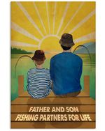 Father And Son Fishing Partners For Life Vertical Poster - Print Perfect, Ideas On Xmas, Birthday, Home Decor, No Frame Full Size