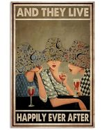Girl Friendship And They Lived Happily Ever After Vertical Poster - Print Perfect, Ideas On Xmas, Birthday, Home Decor, No Frame Full Size