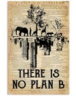 There Is No Plan B Poster Vintage Retro Art Picture Home Wall Decor Horizontal No Frame Full Size