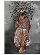 Black Girl And Music Soul Vertical Poster - Print Perfect, Ideas On Xmas, Birthday, Home Decor, No Frame Full Size