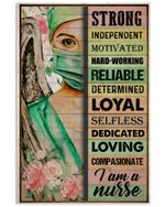 Angel Nurse I Am A Nurse Vertical Poster - Print Perfect, Ideas On Xmas, Birthday, Home Decor, No Frame Full Size