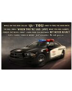 Police Car Simle When You Are Sad Love Poster Vintage Retro Art Picture Home Wall Decor Horizontal No Frame Full Size