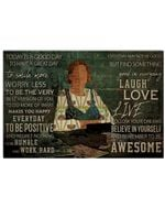 Teacher Everyday May Not Be Good But Find Something Good In Everyday Poster Vintage Retro Art Picture Home Wall Decor Horizontal No Frame Full Size