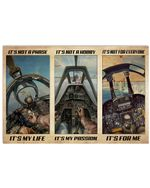 Fighter Pilots It's Not A Phase It's My Life And It's For Me Poster Vintage Retro Art Picture Home Wall Decor Horizontal No Frame Full Size