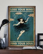Girl Wearing Headphone On Black Dress Lose My Mind Find Your Soul Vertical Poster - Print Perfect, Ideas On Xmas, Birthday, Home Decor, No Frame Full Size