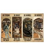 Boxer Pilot Be Badass Everyday Horizontal Poster - Vintage Retro Art Picture Home Wall Decor No Frame Full Size