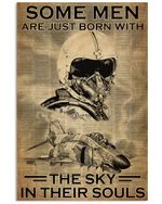 Pilot Some Men Born With Sky In Their Souls Poster Vintage Retro Art Picture Home Wall Decor Horizontal No Frame Full Size