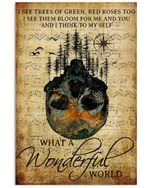 Travelling Into Forest You And I Think To My Self Poster Vintage Retro Art Picture Home Wall Decor Horizontal No Frame Full Size